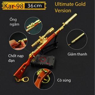 Mô Hình Kar98 Ultimate Gold PUBG , Kar98 PUBG cỡ lớn 36cm có thể tháo lắp Tặng Giá Trưng Bày