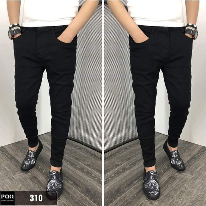 Quần jean nam đen trơn 310