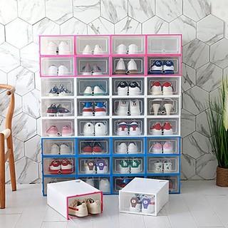 Hộp để giày nhựa cứng trong suốt Size Nam + Tặng gói hút ẩm