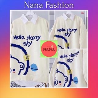 Áo Sweater In Gấu Hello Chất Nỉ Ngoại - Nana Fashion thumbnail
