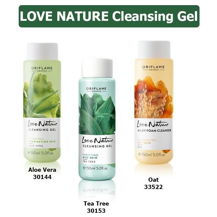 Sữa rửa mặt Cleansing Gel Love Nature Oriflame 30153 / 30149 / 33522 - 2550280 , 428312379 , 322_428312379 , 136000 , Sua-rua-mat-Cleansing-Gel-Love-Nature-Oriflame-30153--30149--33522-322_428312379 , shopee.vn , Sữa rửa mặt Cleansing Gel Love Nature Oriflame 30153 / 30149 / 33522