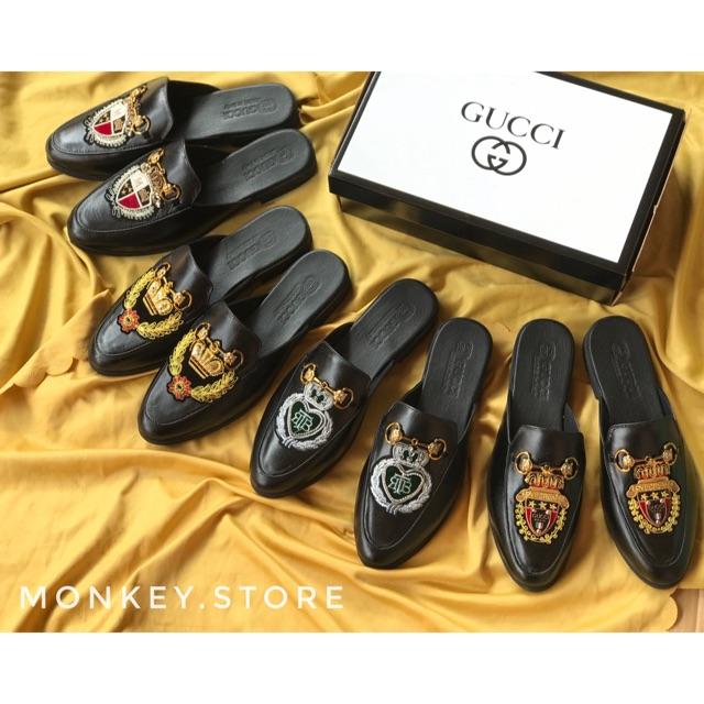 Giày sục nam thời trang 2020, Da bò cao cấp - Có hộp ( Mã GSN08 - Ảnh kèm video )