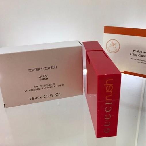 Nước hoa Gucci Rush 75ml for woment tester hộp trắng như hình