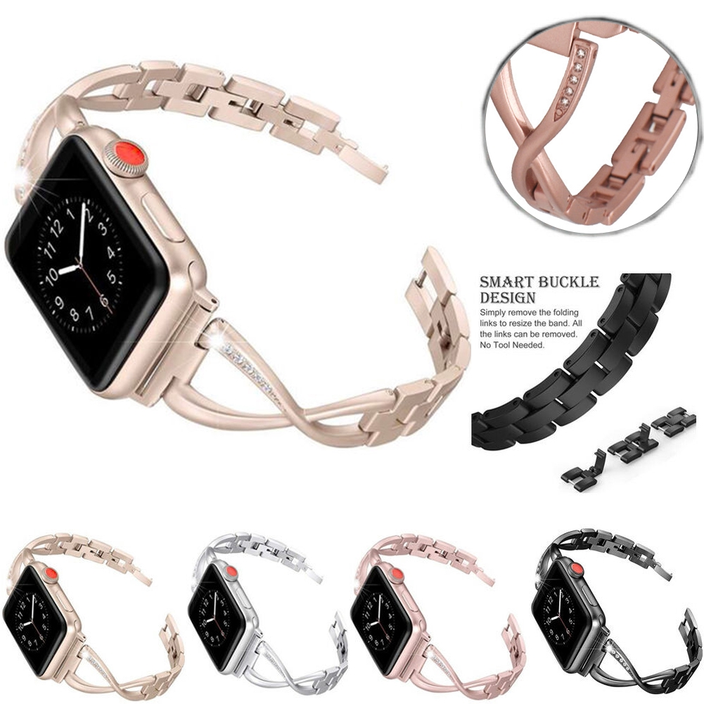 Gift Fashion Durable Replacement Solid Luxury Accessories Diamond Watch Strap For IWatch