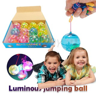 🎁(Flashing Sale) Rubber Bouncing Ball Fun Luminous Crystal Ball