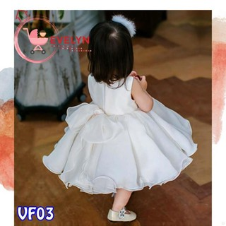 Váy Trẻ Em Công Chúa Evelyn Mã VF03 Thời Trang Cho Bé Gái 0-9 Tuổi Mặc Dự Tiệc Sinh Nhật