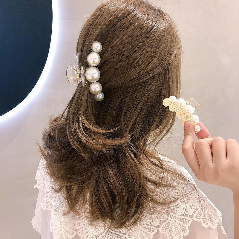 Kẹp tóc nữ càng cua ngọc trai nhân tạo kiểu dáng hàn quốc hot trend KC03