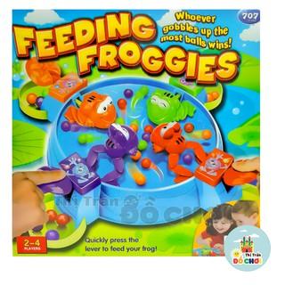 Bộ đồ chơi ếch ăn kẹo nhiều màu bằng nhựa không dùng pin cho bé