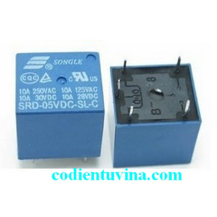 Relay 5V 10A 5Chân SRD-05VDC-SL-C