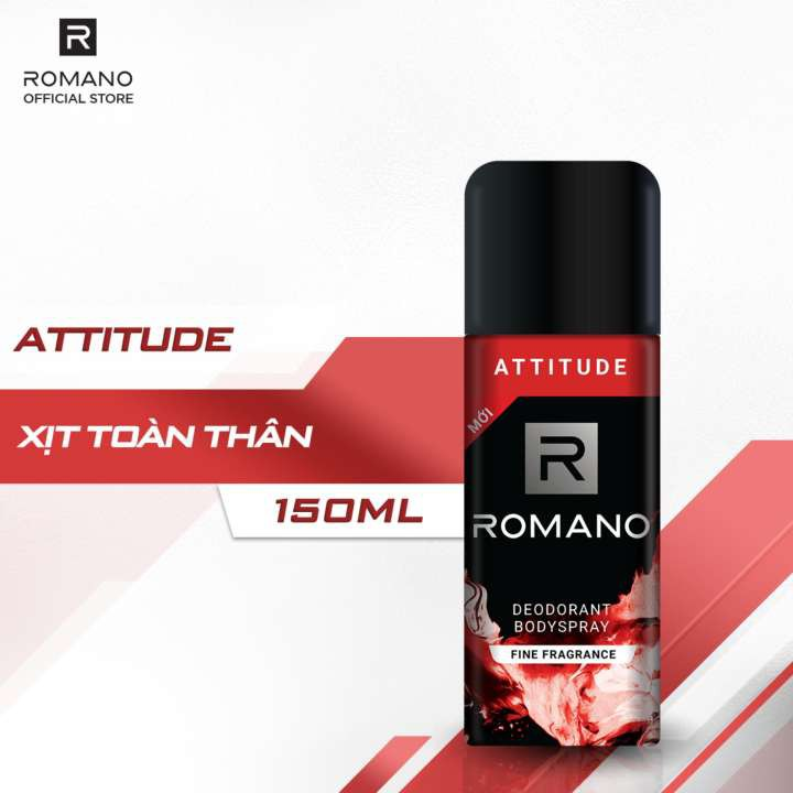 Xịt khử mùi toàn thân Romano Attitude 150ml