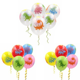 10Pcs Latex Dinosaur Printed Balloon Kids Birthday Balloons