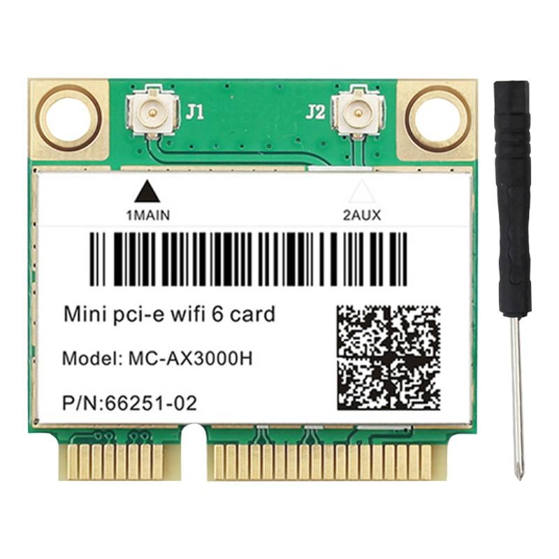 Card Wifi Không Dây Mini Pci-E 6 Ax200 2.4g + 5g