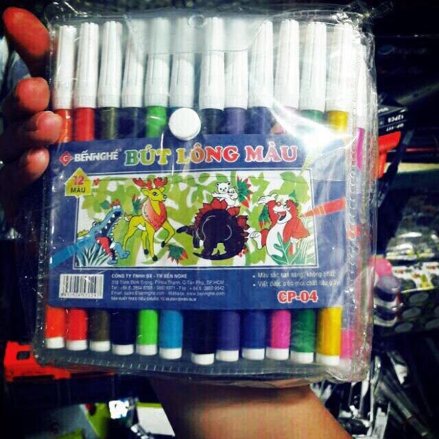 [sỉ ib] Bút dạ 12 màu
