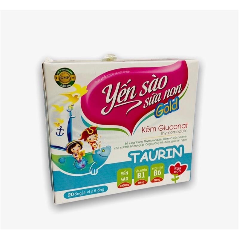 Yến Sào Sữa Non  gold hỗ trợ tiêu hóa, giúp ăn ngủ ngon, bổ sung vitamin, khoáng chất cho cơ thể, tăng cường sức khỏe