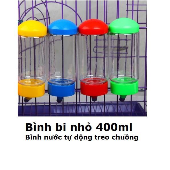Bình uống nước tự động treo chuồng thú cưng (size nhỏ 400ml) hanpet 379