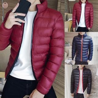 Mens Puffer Padded Zipper Zip Up Zip Mens Coats Puffer Bubble Jacket Collar Coat Ultralight Lightweight Overcoat