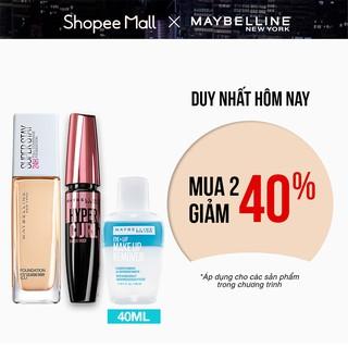 [Bộ sản phẩm] Kem Nền Lâu Trôi Superstay 30ml + Mascara dài cong mi Hyper Curl 9.2ml + Tẩy trang 40ml Maybelline NewYork