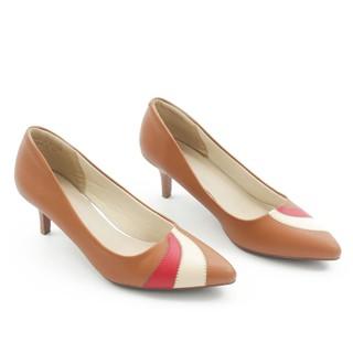 Giày Cao Gót 5cm Gót Nhọn Mix Nhiều Màu Màu Nâu Pixie P350 thumbnail