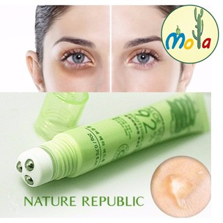 Lăn trị thâm quầng mắt, giảm sưng bọng mắt AloeVera 92 % hàn quốc Mola