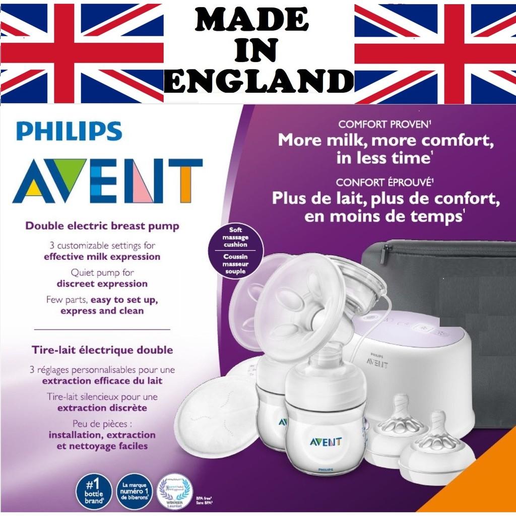 [Sản xuất tại Anh] Mới 100% Philips Avent Máy hút sữa điện đôi Philip Avent SCF334/22