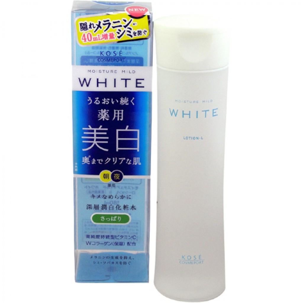 Nước hoa hồng dưỡng trắng da Kose Moisture Mild White 180ml - Nhật nội địa - 3087725 , 691204487 , 322_691204487 , 538000 , Nuoc-hoa-hong-duong-trang-da-Kose-Moisture-Mild-White-180ml-Nhat-noi-dia-322_691204487 , shopee.vn , Nước hoa hồng dưỡng trắng da Kose Moisture Mild White 180ml - Nhật nội địa