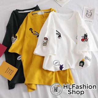 Áo thun tay lỡ form rộng Cartoon Network hoạ tiết siêu lạ, áo phông form rộng HLFashion thumbnail