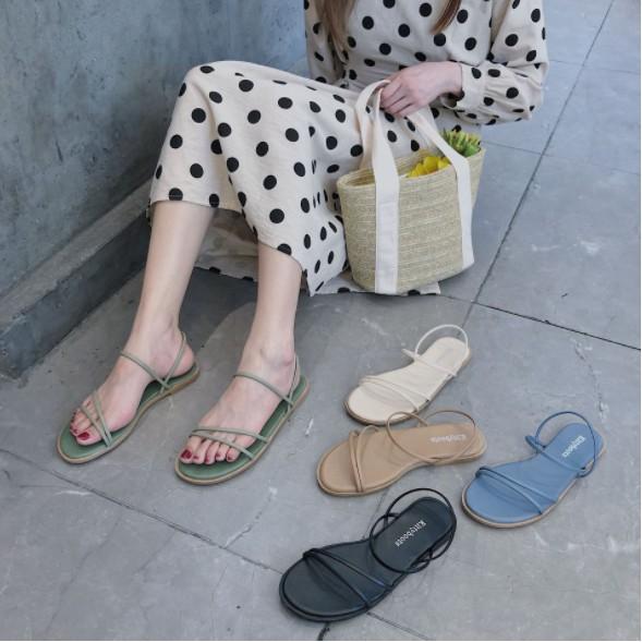 Giày Sandals Dây Mảnh Xinh Xắn Cho Nữ