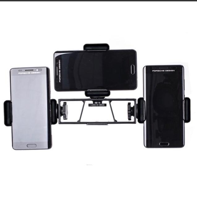 Giá đỡ điện thoại, thanh nối đa năng gắn đến 4 điện thoại lên tripod hỗ trợ livestream