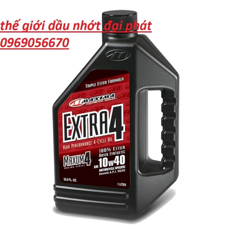 dầu nhớt nhập khẩu 100% maxima extra 4 1 lít 10w40