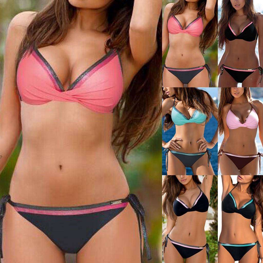 Bikini Phối Dây Phong Cách Brazil