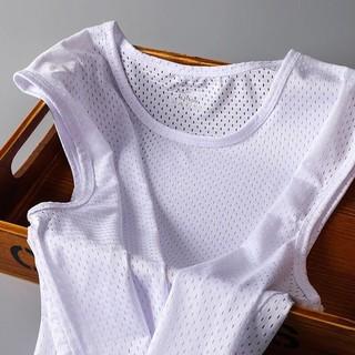 Áo vest lưới nam thể thao thoáng khí áo phông không tay mùa hè không có dây băng khô nhanh khô thoáng khí
