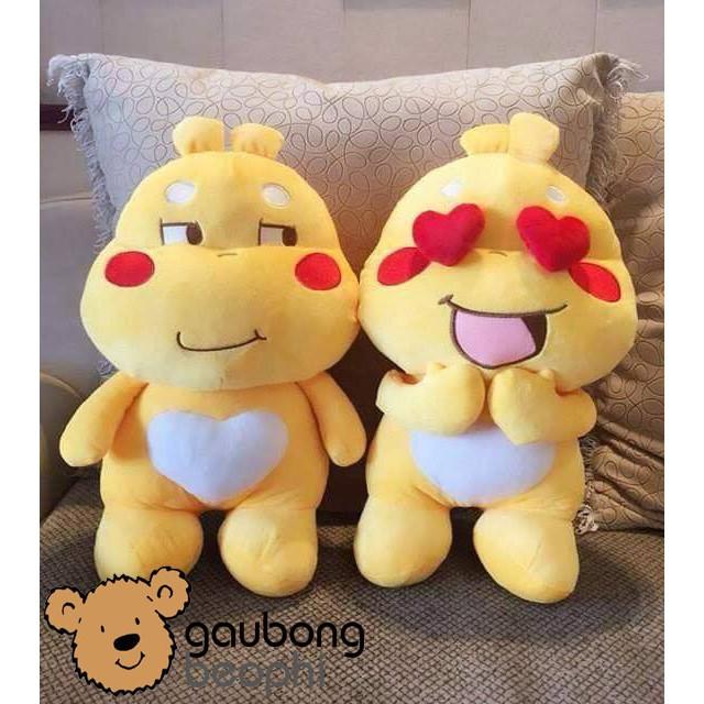 [HOT][CÓ SẴN] Combo 3 con gấu bông Sticker Qoobee thần thánh size 50cm , món quà đồ chơi tuyệt vời...