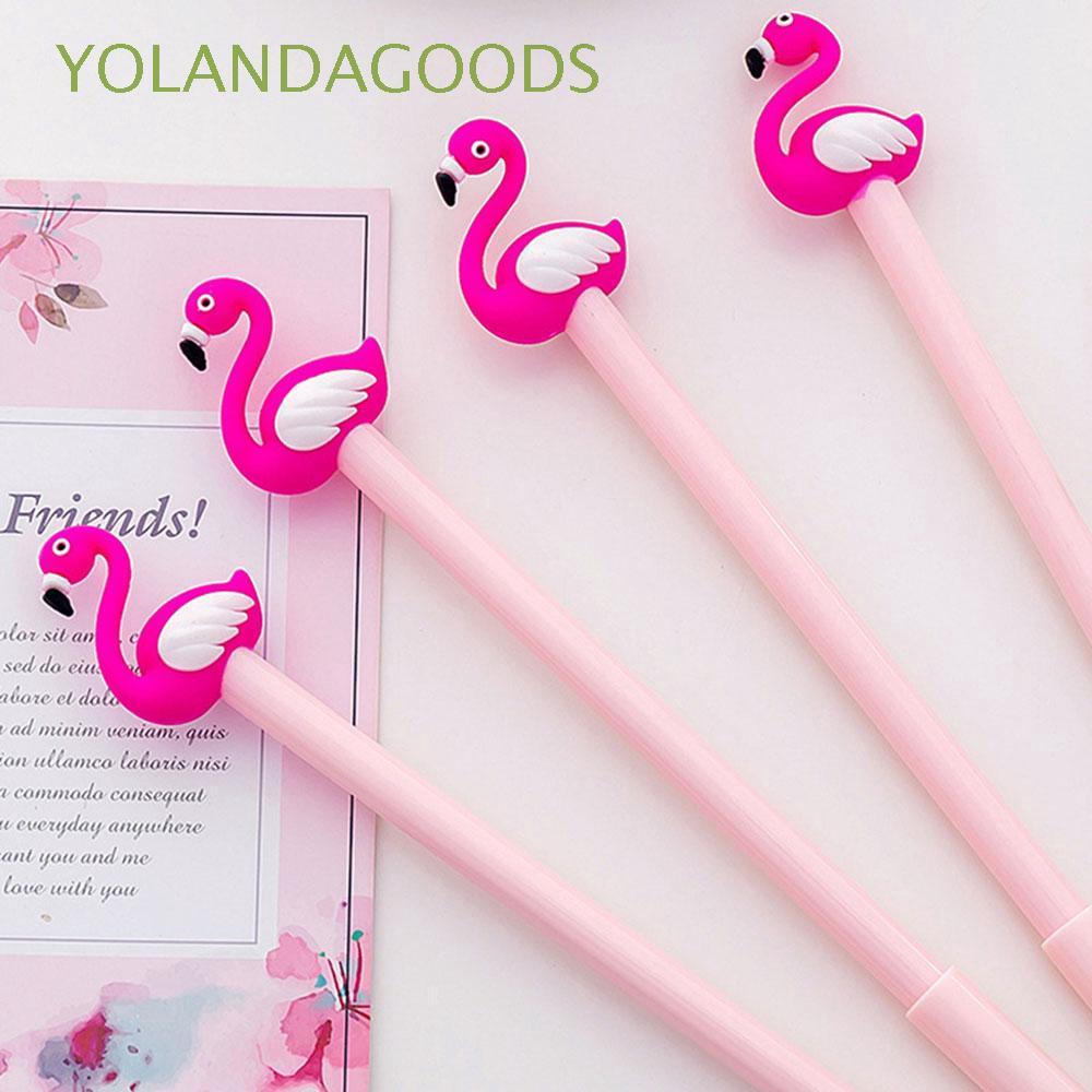 1/3/5 PCS Cartoon Animal School Supplies Plastic Stationery Flamingo Gel Pen