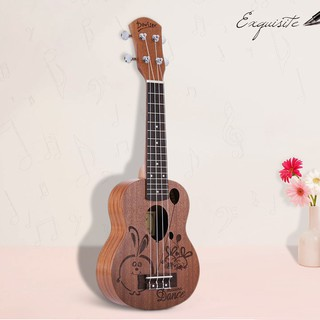 yohi2018 21″ Sapele Ukelele Rosewood Fingerboard Mahogany Neck Nylon String