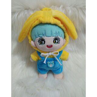 Outfit thỏ lông đáng yêu cho doll 20cm