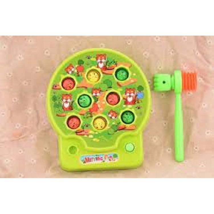 Đồ chơi đập chuột có nhạc dành cho bé trên 1 tuổi , đồ chơi tập phản xạ cho bé có nhạc (kèm pin)