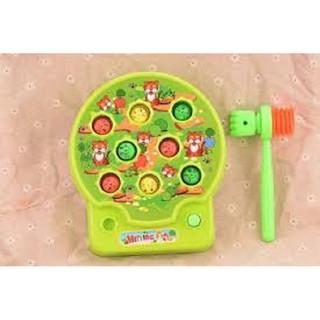 Đồ chơi đập chuột, đồ chơi tập phản xạ cho bé có nhạc (kèm pin)
