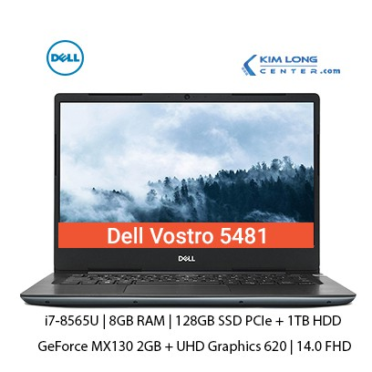 Laptop Dell Vostro 5481 i7-8565U | 8GB | 128GB PCIe+1TB | MX130 2GB | 14.0 FHD | Ledkey | Finger | FreeDos