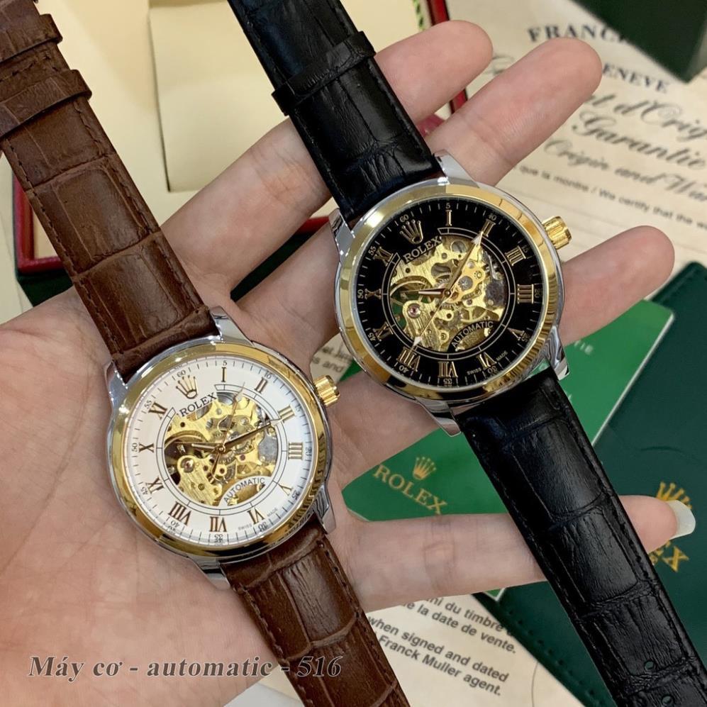 Đồng hồ nam RL máy cơ automatic mặt tròn classic dây da cao cấp DH516 shop105