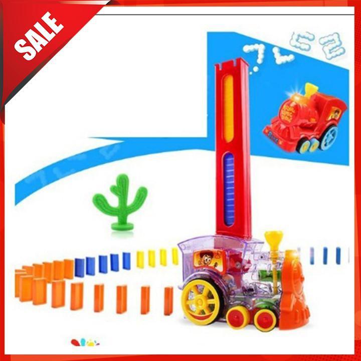 [ẢNH TỰ CHỤP] Bộ đồ chơi tàu hỏa Domino giúp bé rèn luyện sự khéo léo và tính kiên nhẫn [BÁN CHẠY]