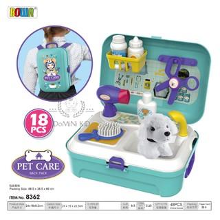 Balo bộ đồ chơi chăm sóc thú cưng