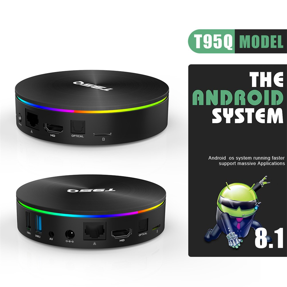 👍In Stock👍T95Q TV Box S905X2 Android 8.1 4G/64GB Smart Network Player with Bluetooth Voice Remote Control