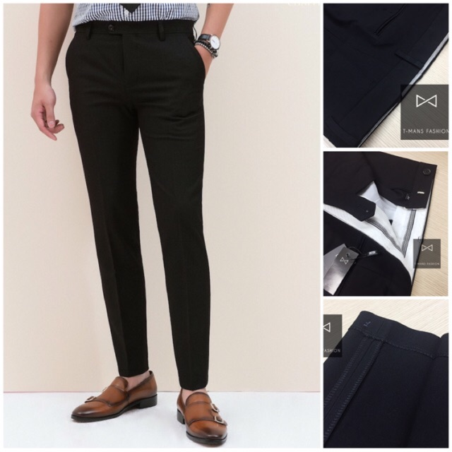 Quần âu nam màu đen chất vải 79 xịn, đường may chuẩn, kiểu dáng ôm body hàn