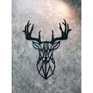 Tranh treo tường nghệ thuật trang trí nhà cửa, quán cafe - Tranh Decor Đầu hươu 3D DH-3D200
