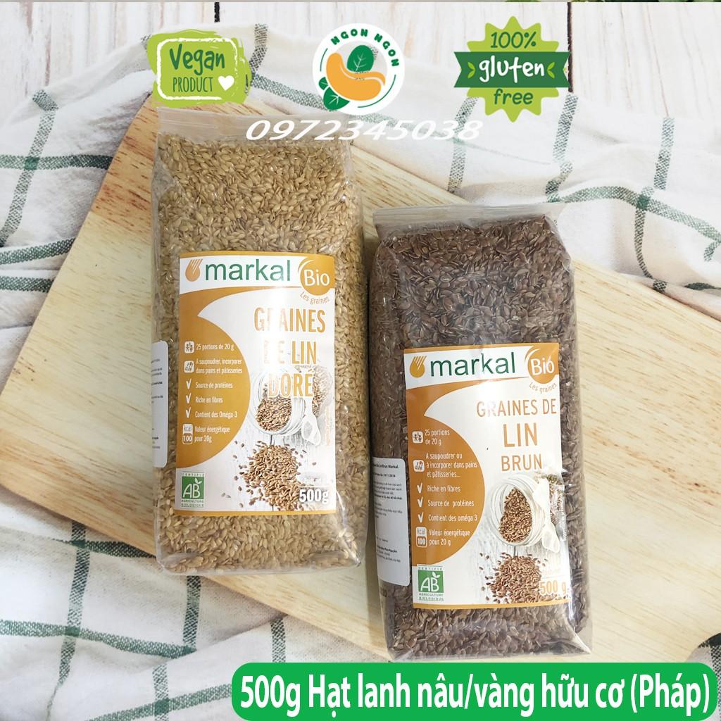 (Organic) Hạt lanh nâu/vàng hữu cơ Markal 500g