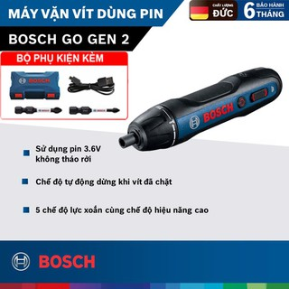 Máy vặn vít dùng pin Bosch Go Gen II Model Mới – Tặng áo thun Bosch