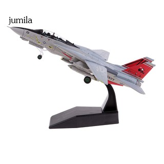 JUL 1/100 Simulation USA F-14 Alloy Diecast Fighter Plane Model Kids Toys Home Decor