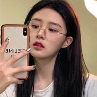 Belibeli frameless anti-blue light women's glasses/flat glasses