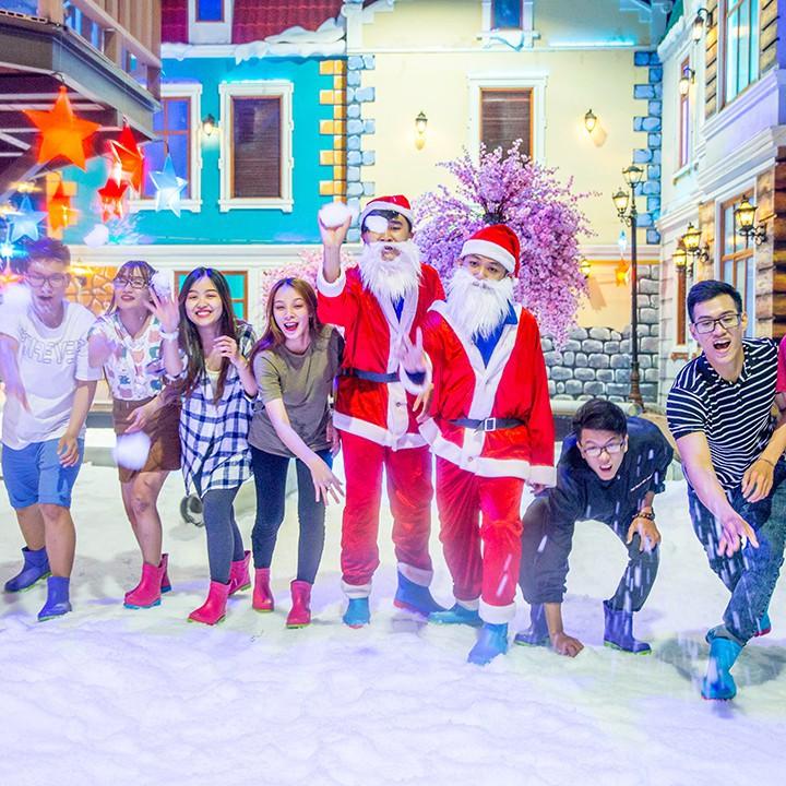 HCM [Voucher] 03 Vé giấy vào Snow Town khu vui chơi thành phố tuyết lớn nhất Sài Gòn