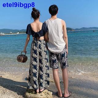 Cặp đôi Áo tắm Nữ Chia tay Ba mảnh Super Fairy in Sexy 2021 Mùa hè Tân sinh viên Quần short đi biển Nam Hot thumbnail